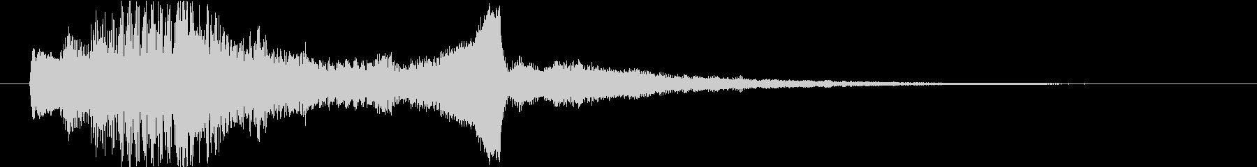高級感キラキラ華やかブランドサウンドロゴの未再生の波形