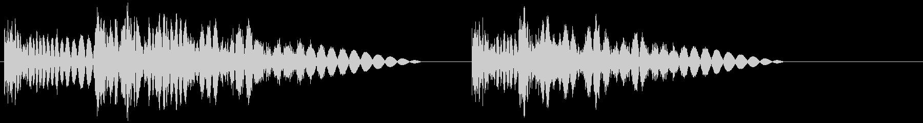 ボココッビシッ(ラッシュ攻撃)の未再生の波形