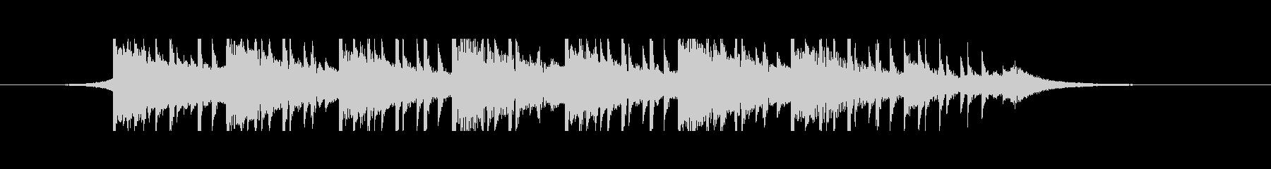 医療音楽(25秒)の未再生の波形