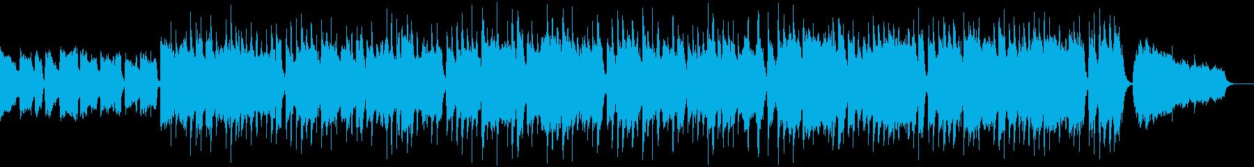 夏を感じる、ほのぼのしたボサノバBGMの再生済みの波形