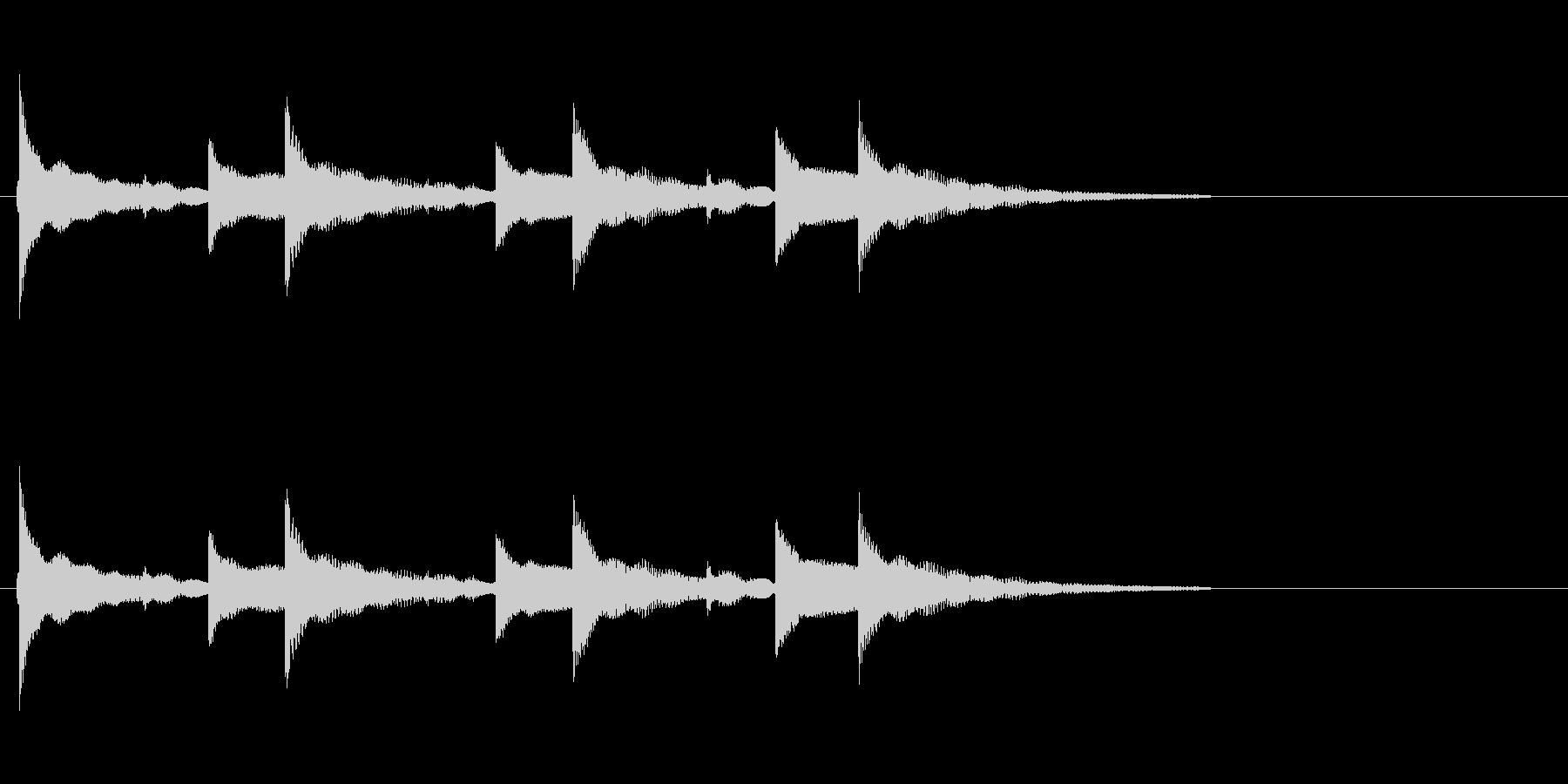 「ちゃららら×3+ら〜」ウクレレアラームの未再生の波形