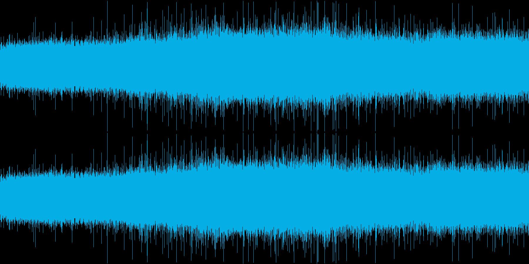 雨音(激しめ)の再生済みの波形