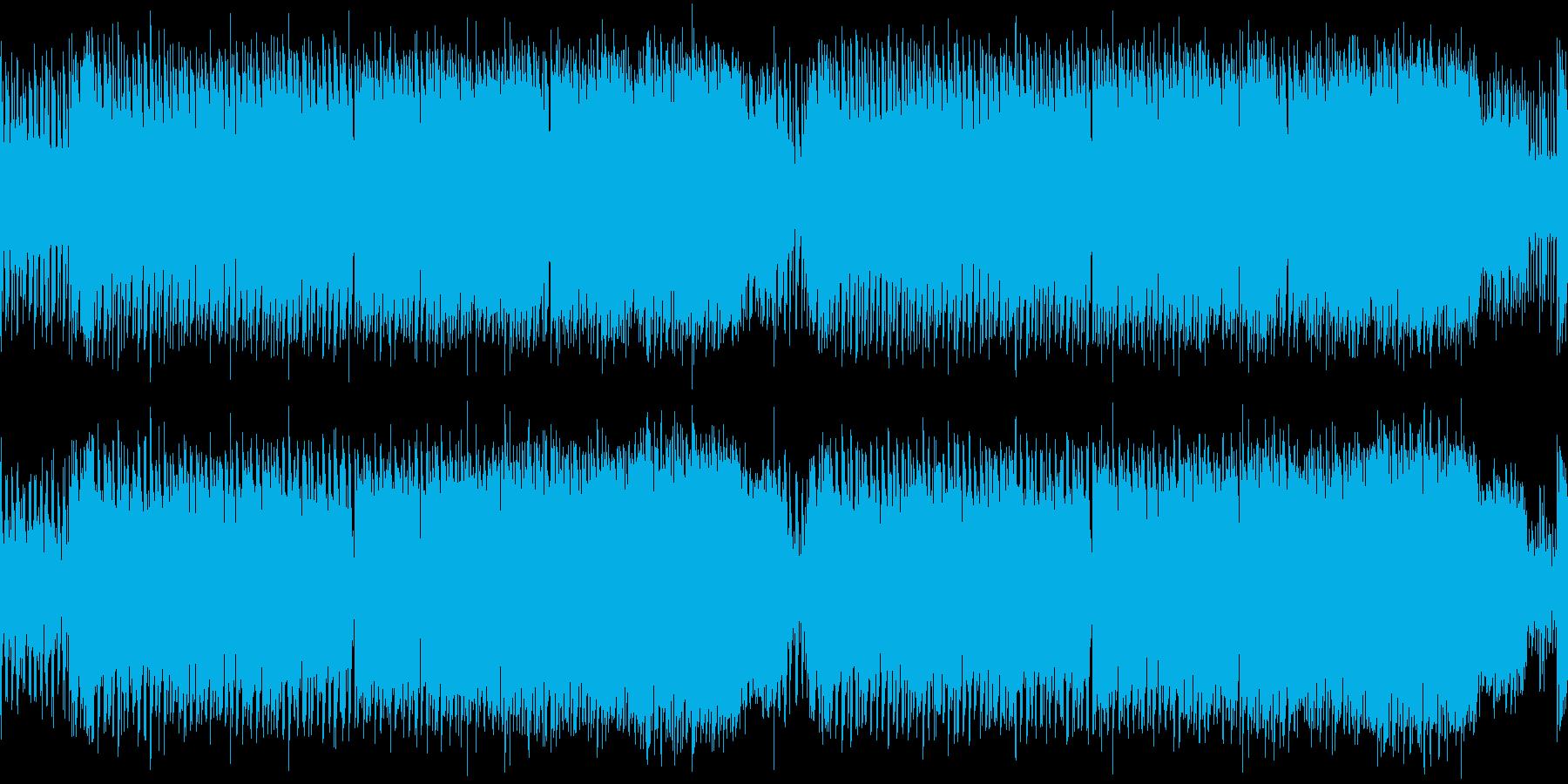レトロゲーム風クールな感じ・FM音源版の再生済みの波形