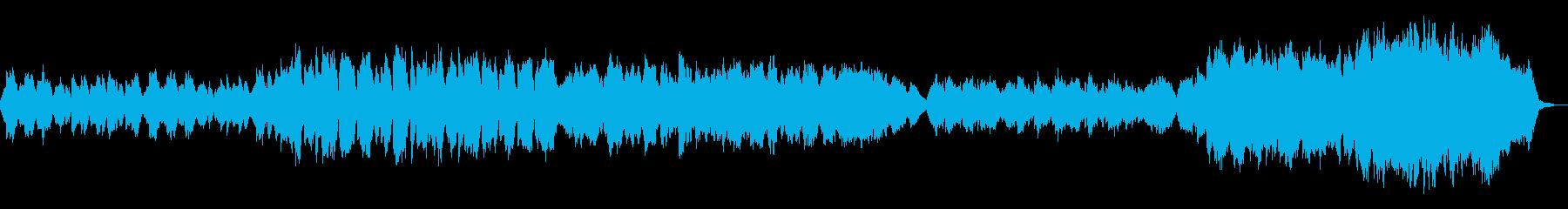 フルートと鍵盤楽器の物悲しい曲の再生済みの波形