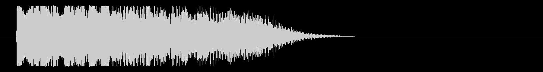チャララランという落ち着いたロゴの未再生の波形