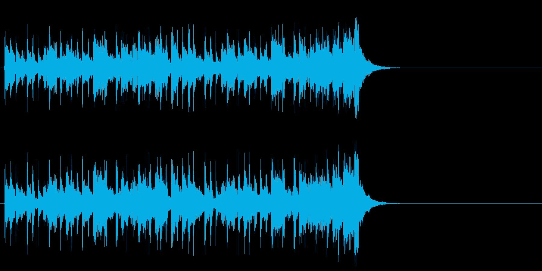わくわくする軽快なポップ(イントロ)の再生済みの波形
