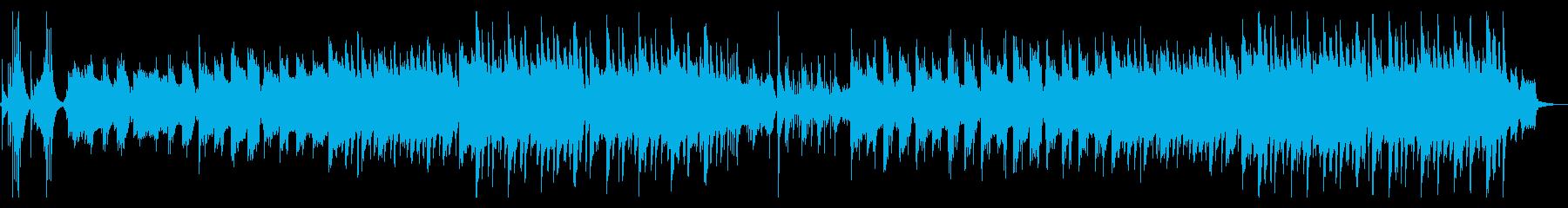 【和風 琴】幻想的でスローな雰囲気の再生済みの波形