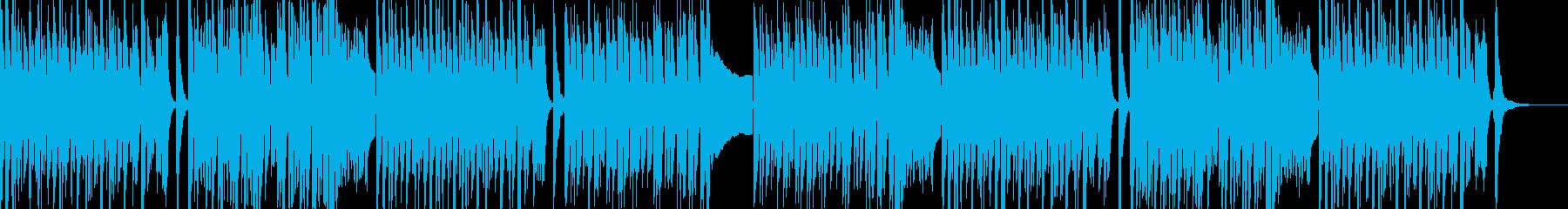 スピード感あるポップなコメディトラックの再生済みの波形