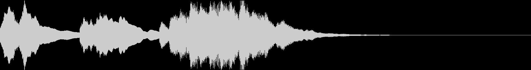 神秘的なクリスタル音03- ジングルCMの未再生の波形