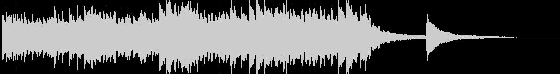 ピアノ、ロゴ、ジングルの未再生の波形