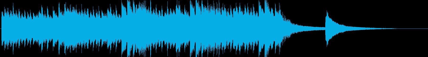 ピアノ、ロゴ、ジングルの再生済みの波形