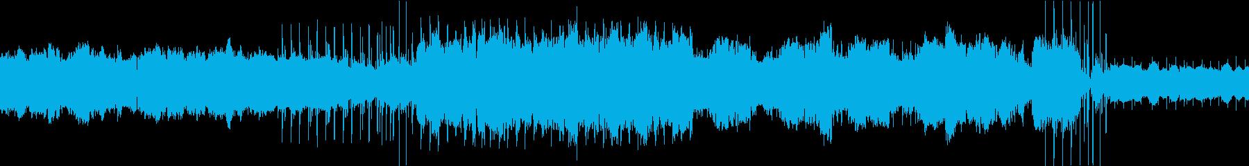 バグパイプとリコーダーのループBGMの再生済みの波形