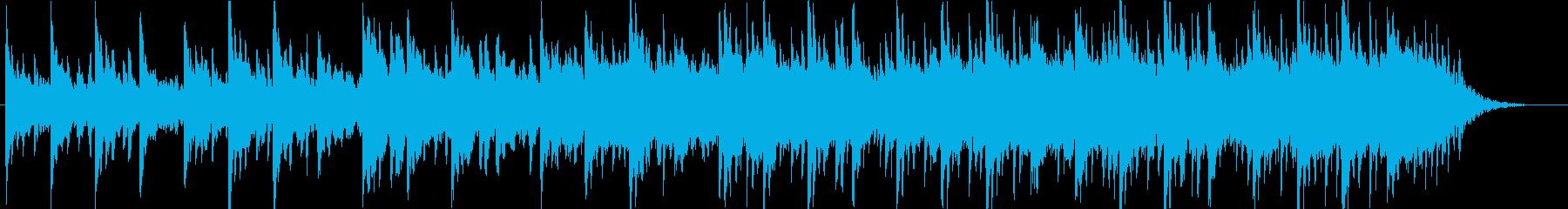 ピアノ、アコギの静かな打ち込み系の再生済みの波形