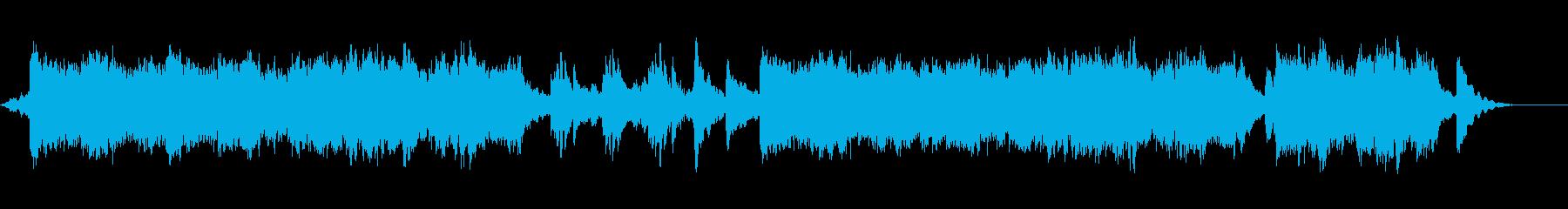 未来で淡々とした曲の再生済みの波形