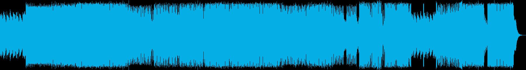 90年代のハードコア・テクノの再生済みの波形