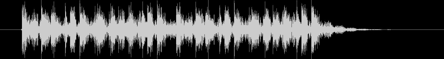 楽しげなリズミカル音(番組、ジングル)の未再生の波形