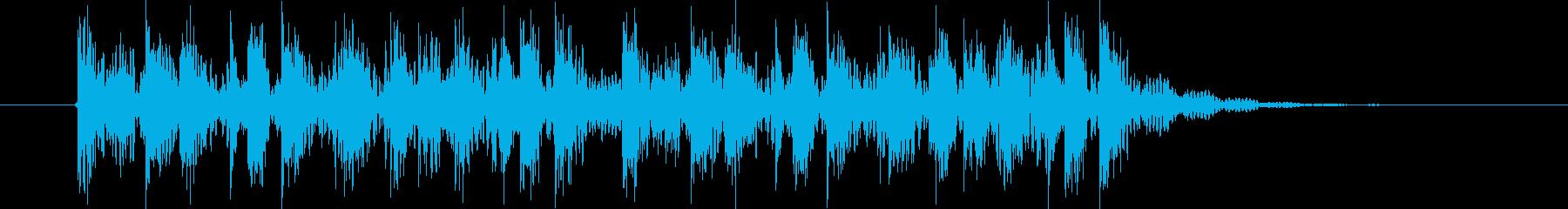楽しげなリズミカル音(番組、ジングル)の再生済みの波形