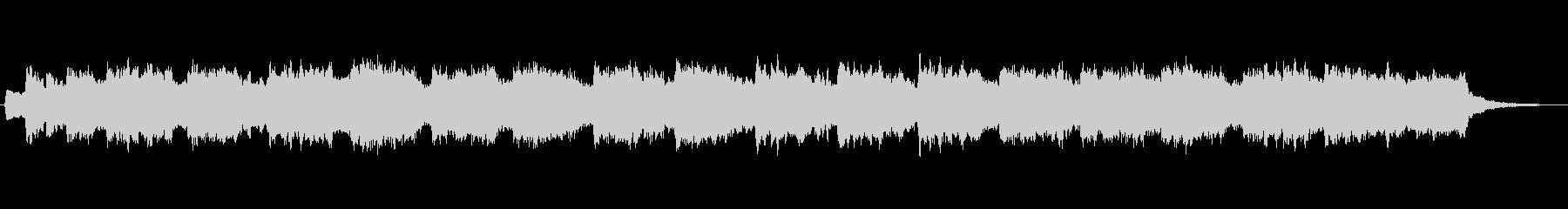 オルガンとシンセのほのぼのとしたジングルの未再生の波形