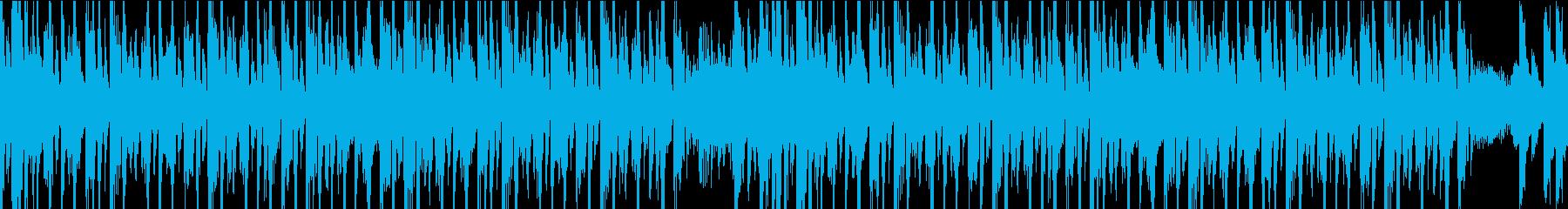 宇宙的で疾走感のあるサイバーなループの再生済みの波形