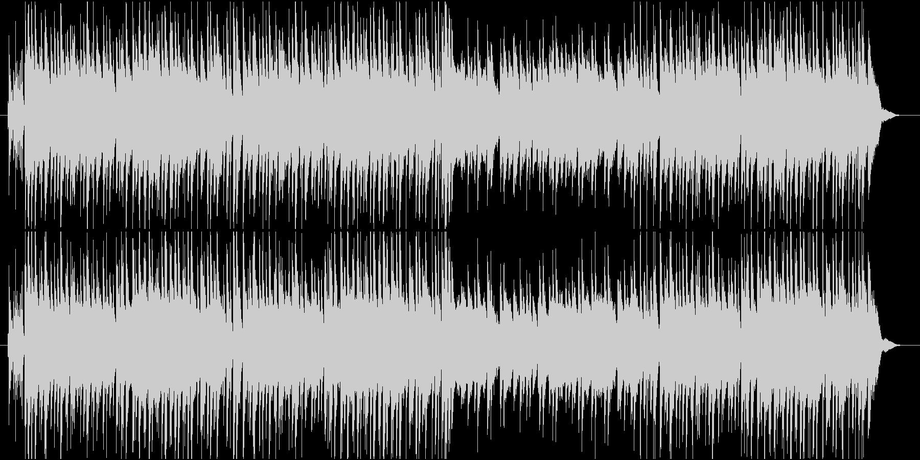 明るく軽快なアコースティックギターの調べの未再生の波形