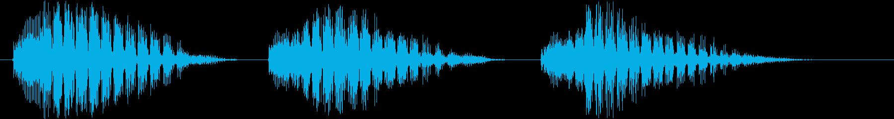 カララカララ(カラスの鳴き声)擬音唸り3の再生済みの波形