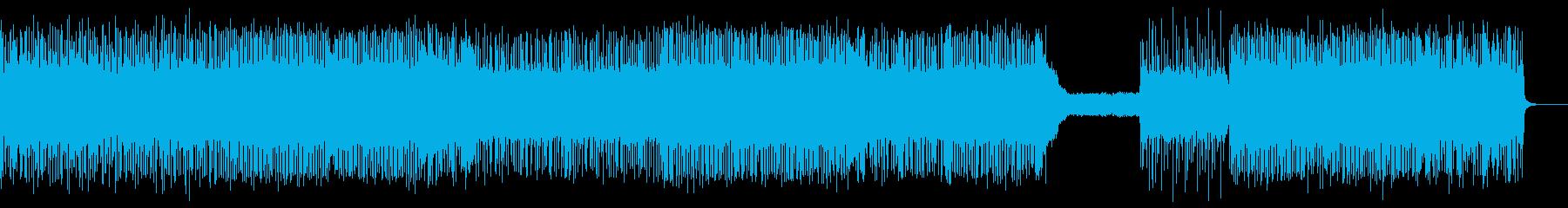 熱いギターロックBGM7_Lの再生済みの波形