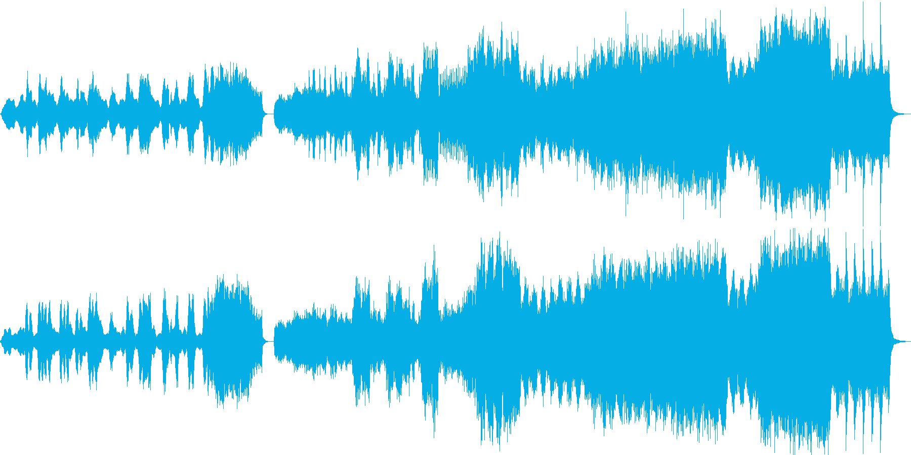 映画の逃げ惑うシーン用BGMの再生済みの波形