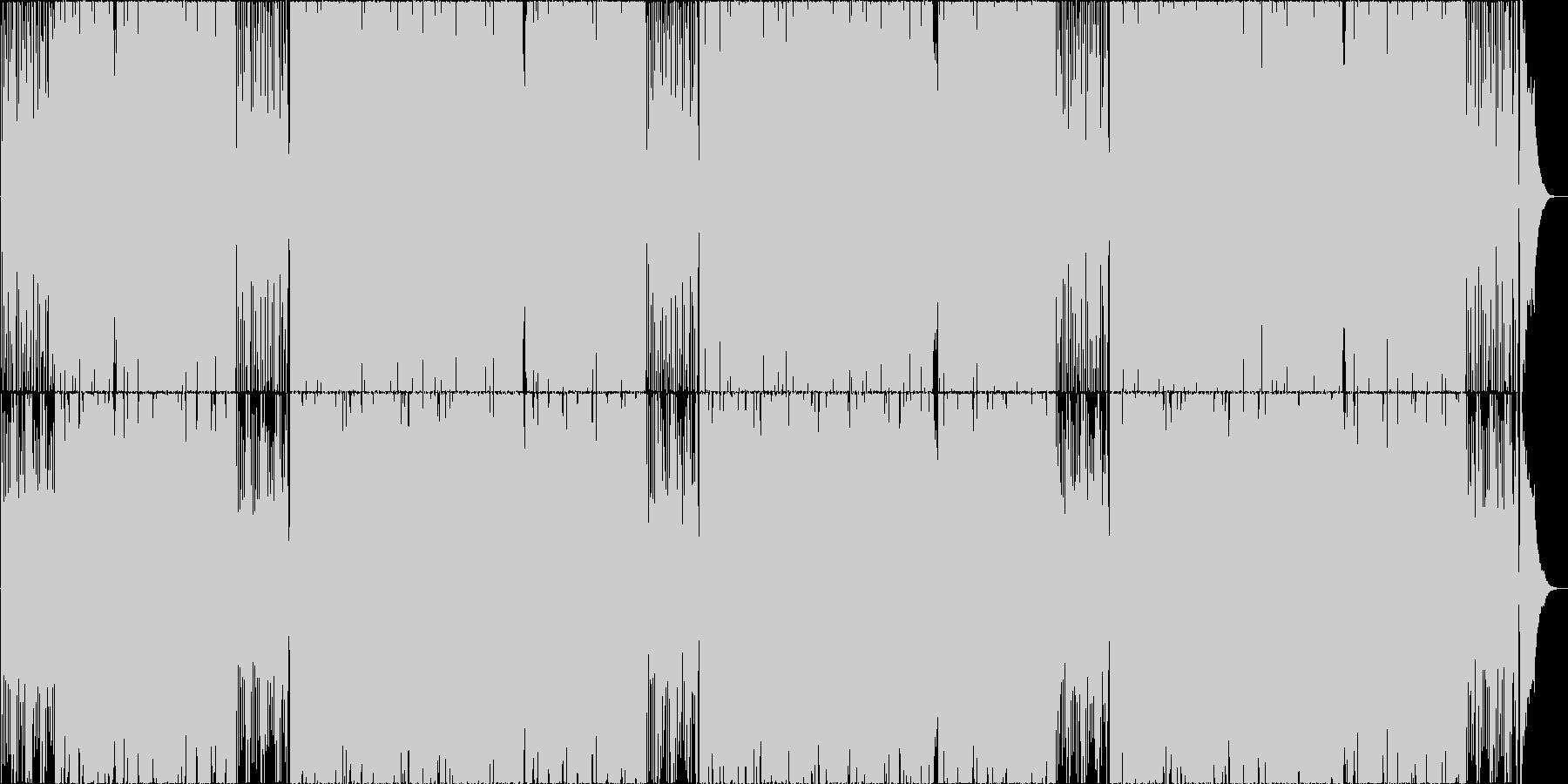 ゆったりテンポのエキゾチックボサノバの未再生の波形