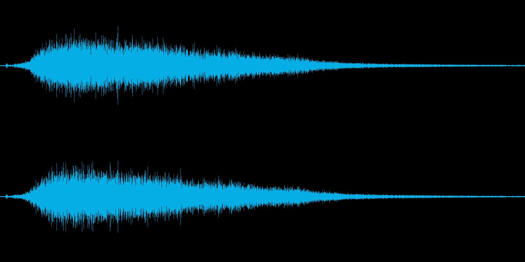 【プシュー】蒸気などを排出する音の再生済みの波形
