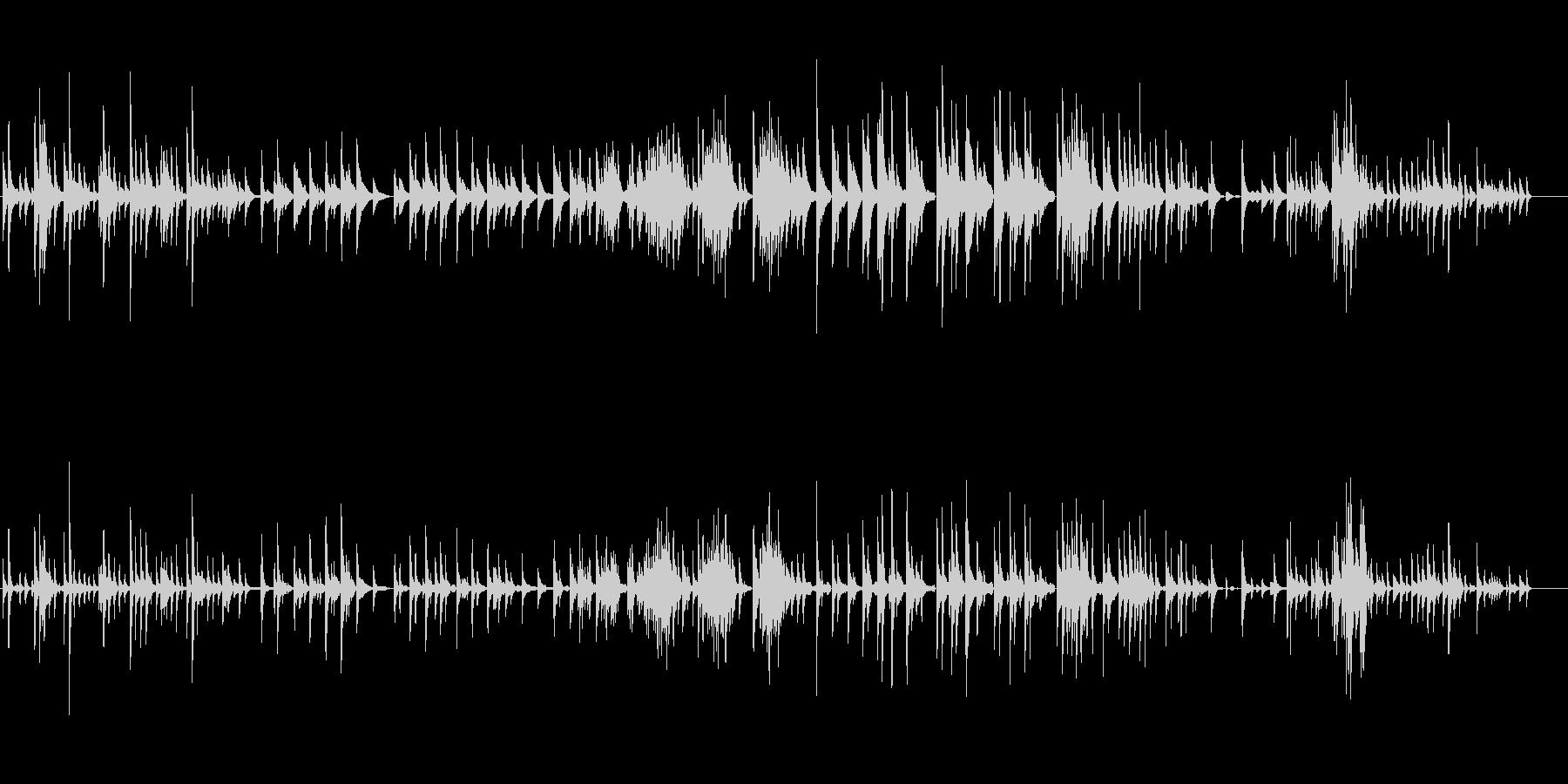 生ピアノソロ・漂う海月(ソフトピアノ)の未再生の波形