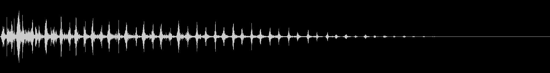 マラカスの連続音(コミカル・遠ざかる)の未再生の波形