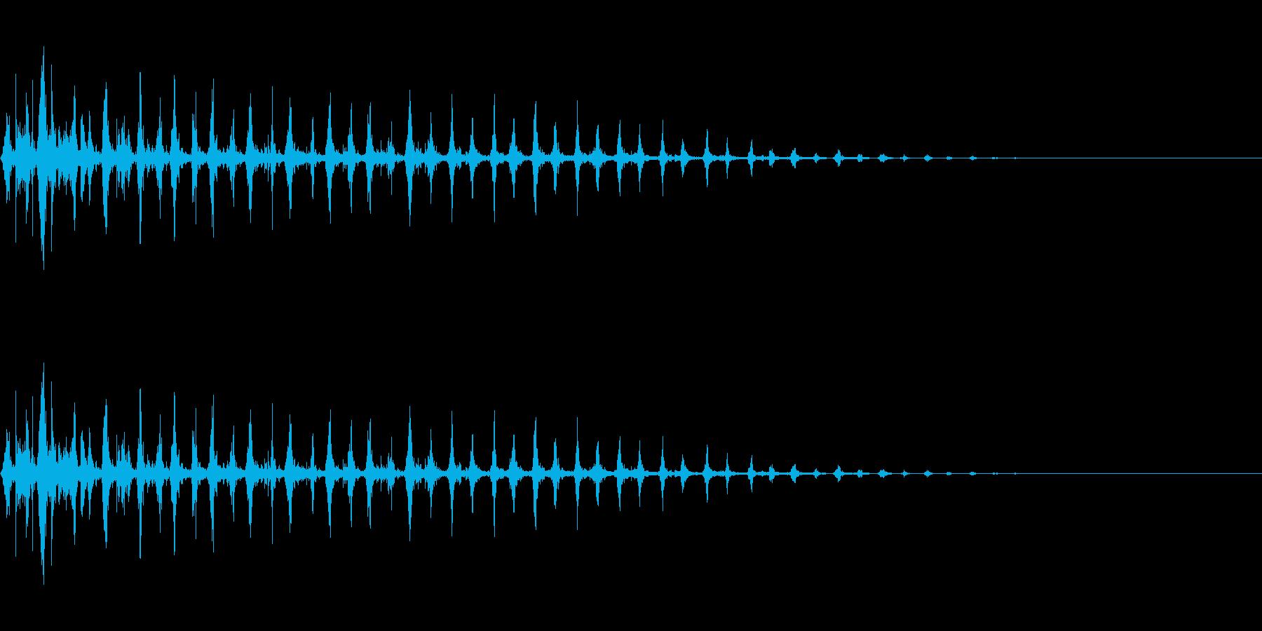 マラカスの連続音(コミカル・遠ざかる)の再生済みの波形