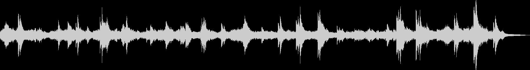 不穏で不気味なピアノBGMの未再生の波形