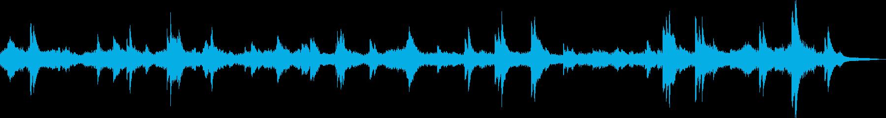 不穏で不気味なピアノBGMの再生済みの波形