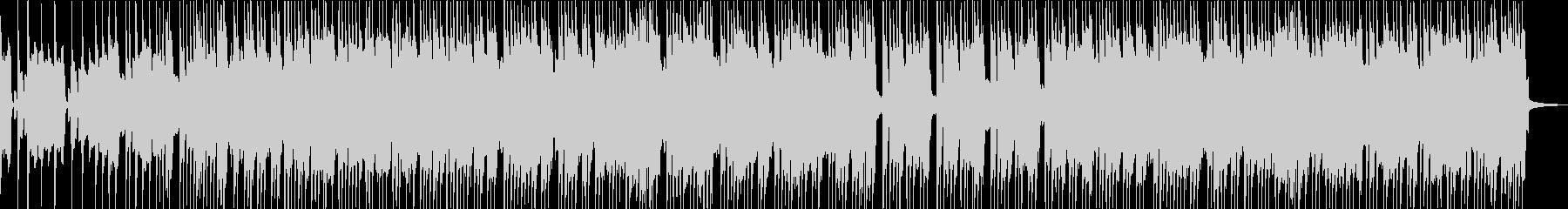 アップテンポサビなし定調なロックBGMの未再生の波形