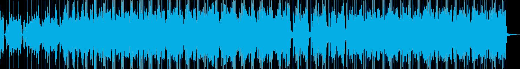 アップテンポサビなし定調なロックBGMの再生済みの波形