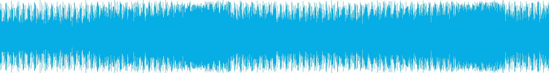 チュートリアルや解説に合うテクノ系BGMの再生済みの波形