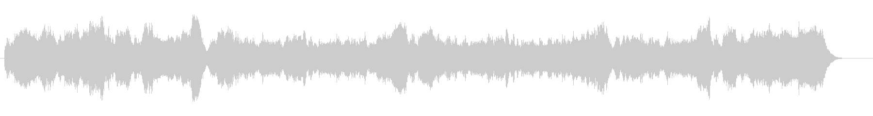 名曲アメージンググレース、パイプオルガンの未再生の波形