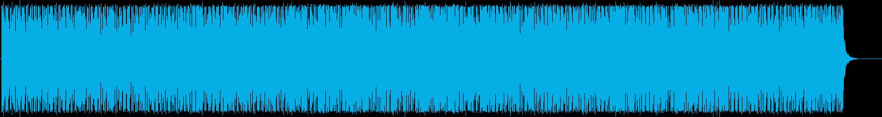 シンセサイザーのリズミカルなポップの再生済みの波形