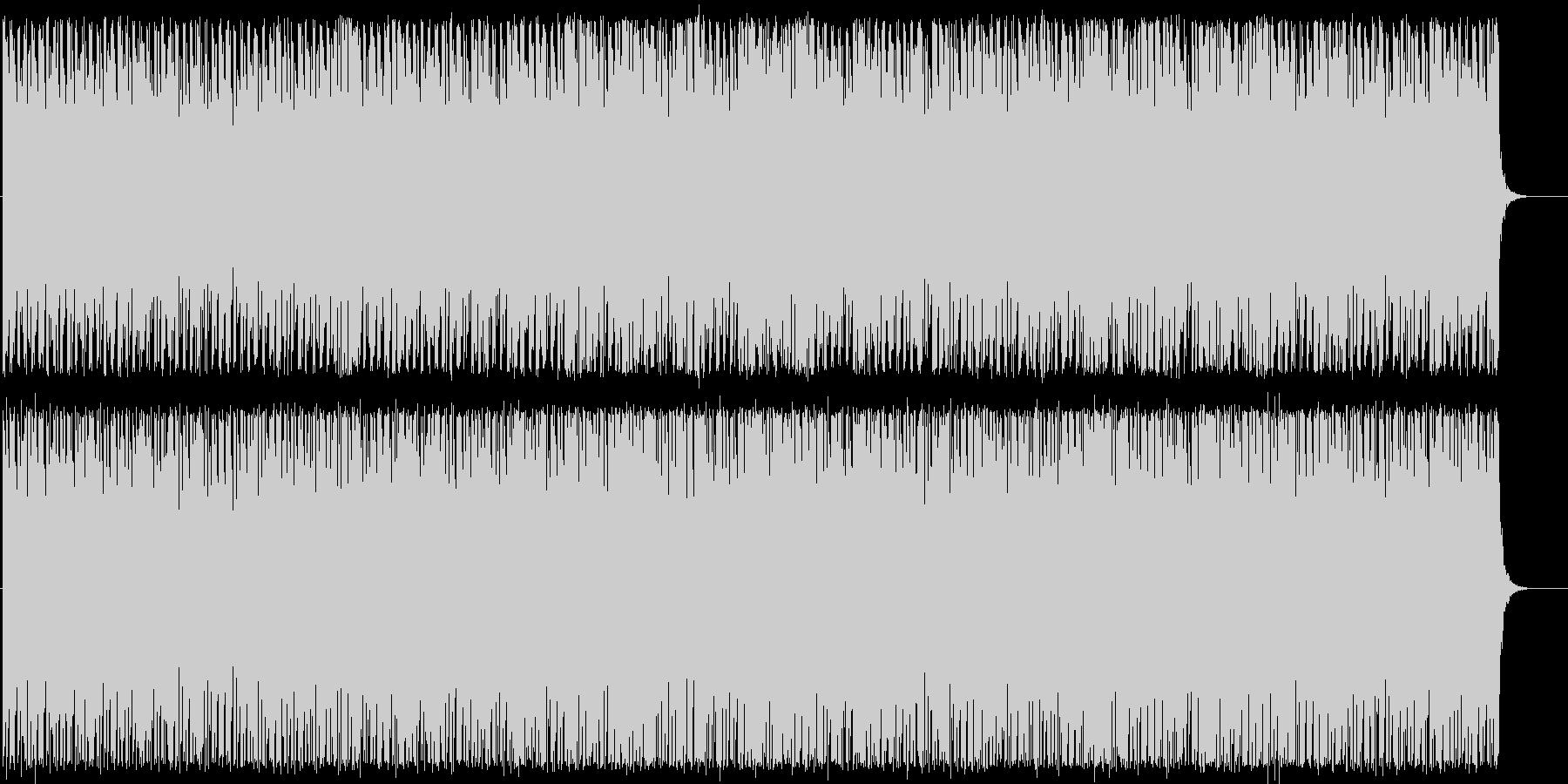 シンセサイザーのリズミカルなポップの未再生の波形