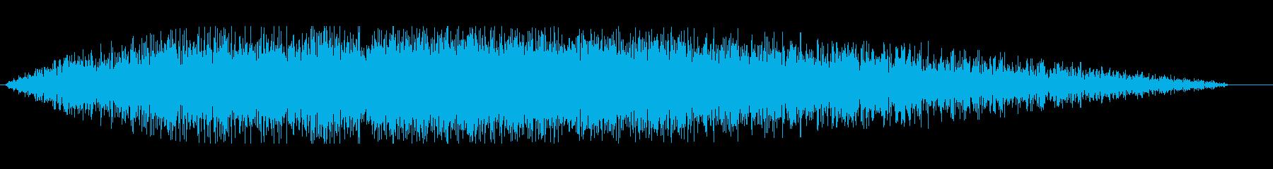 切羽詰まった場面から次の場面へのつなぎの再生済みの波形