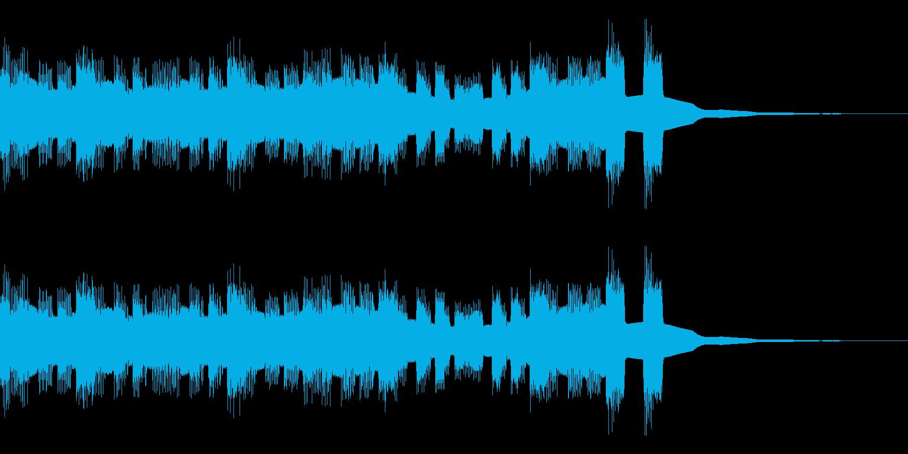 チップチューン風ジングルの再生済みの波形
