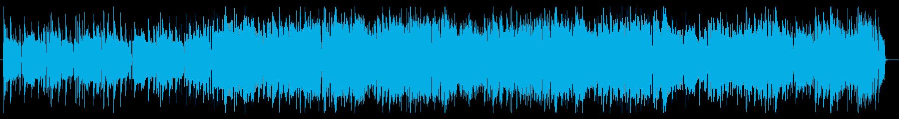 クールなヒップホップ系インストBGMの再生済みの波形