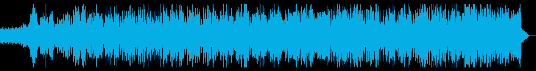 ベースのうねったリズムのダークなテイストの再生済みの波形