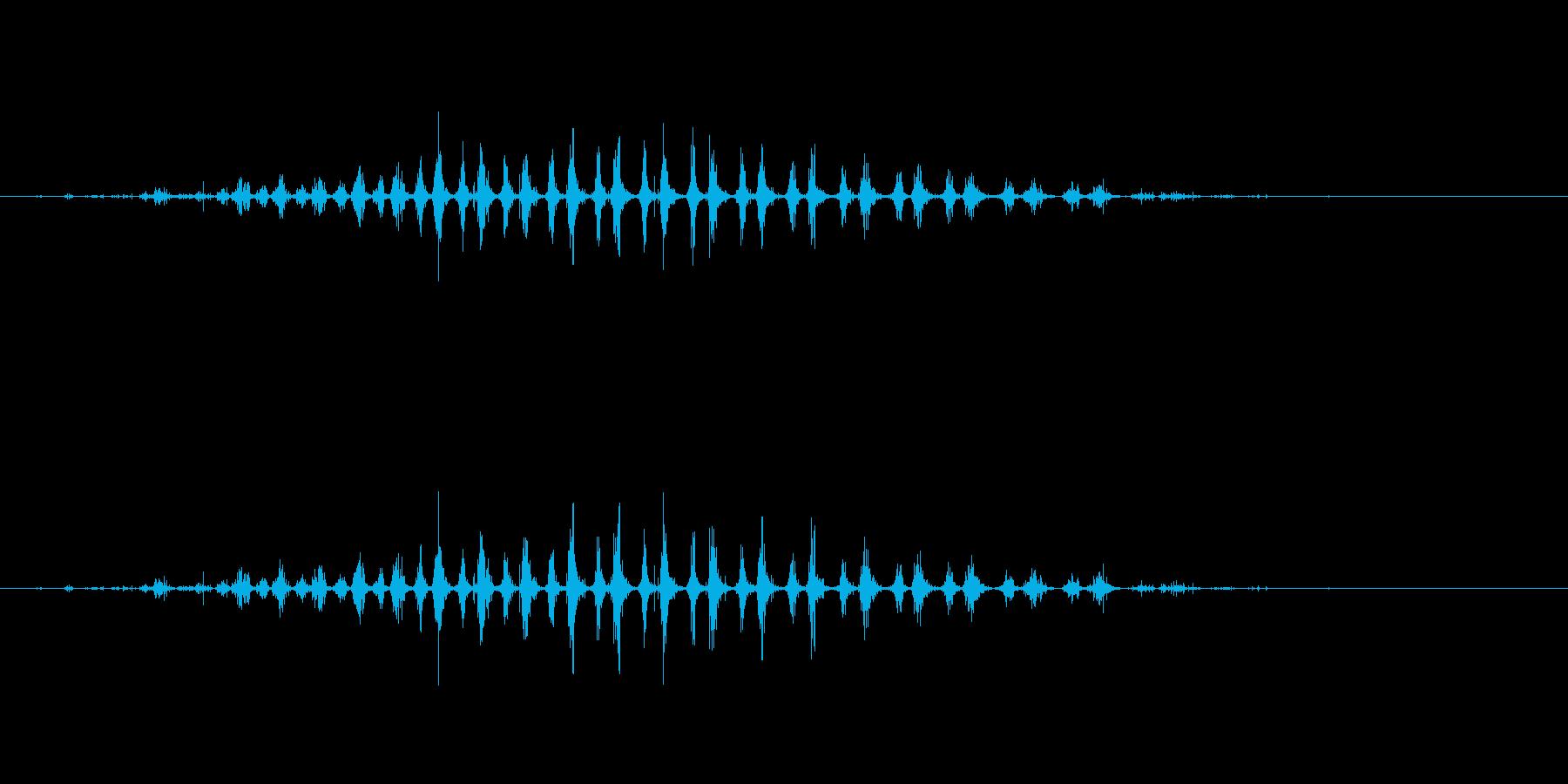 シェーカー ウッドラトルダイナミック04の再生済みの波形