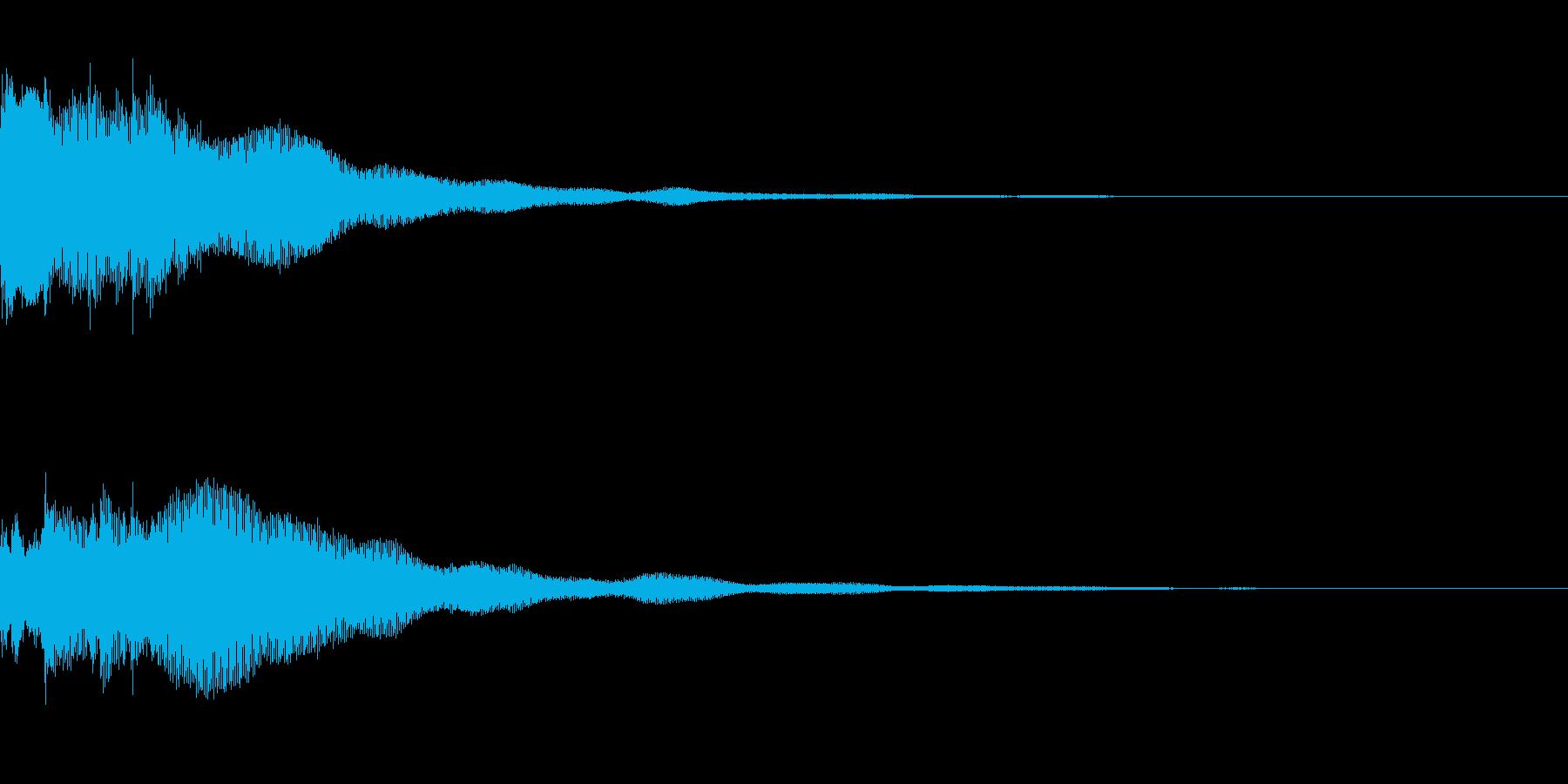 正解の音。「ピンポンピンポン」の再生済みの波形