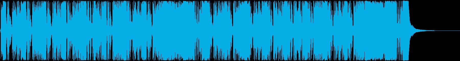 ロックなカッティングにファンクなベースの再生済みの波形