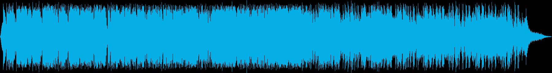 近未来感のあるテクスチャー音楽の再生済みの波形