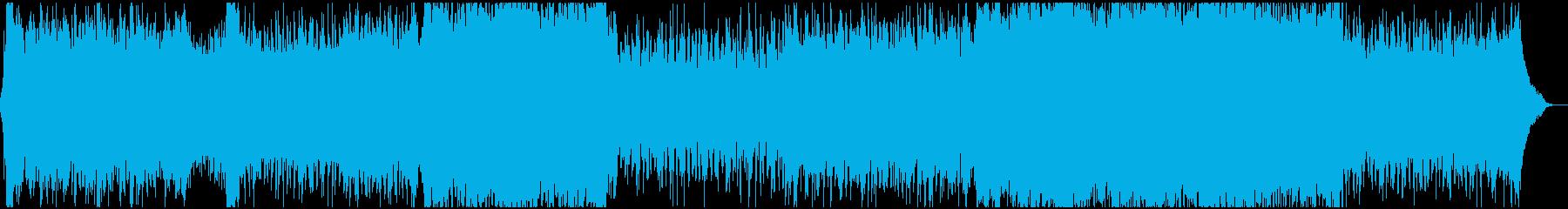 早いテンポの派手なアクションオーケストラの再生済みの波形