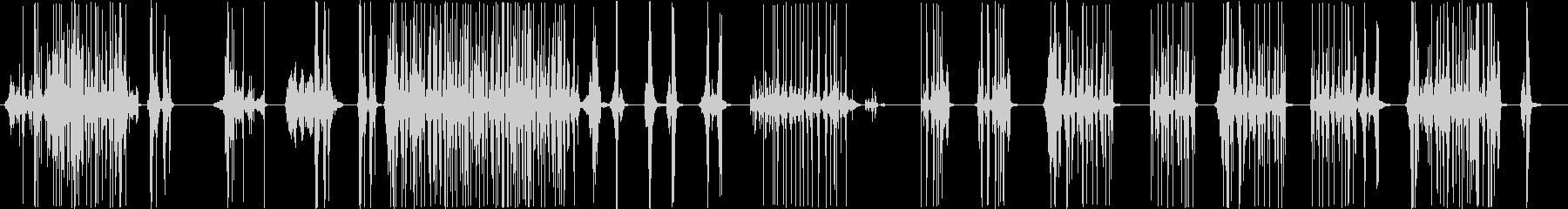 脳内で高速にファイルをめくっていく音の未再生の波形